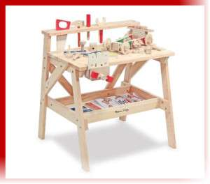 Kids Childs Wood Project Work bench WorkShop Tool Table