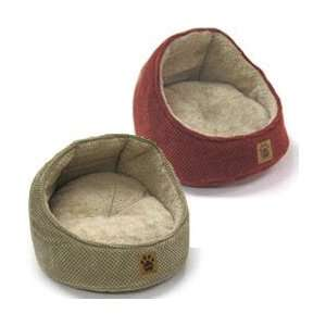 Precision Pet Hooded Chenille Cat Bed tan color 18 length