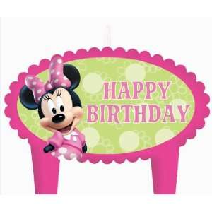 Minnie Mouse Happy Birthday Candle Toys & Games