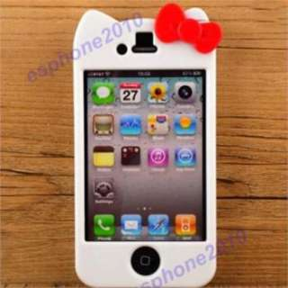 2012 White Hello Kitty Hard Case Cover Skin for Apple iPhone 4 4G 4S
