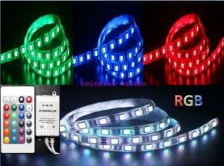 5M Waterproof SMD 5050 RGB LED Strip light 300LED+Power