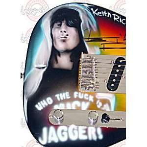 ROLLING STONES Keith Richards Signed Who The F* Guitar