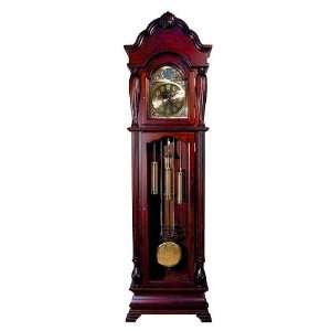 Clock In Antique Cherry Wood Finish. (Item# Vista Furniture AC1408