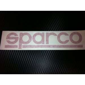 1 X Sparco Racing Decal Sticker (New) Red Size 8x1.8