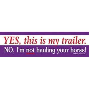 This is my Trailer Bumper Sticker