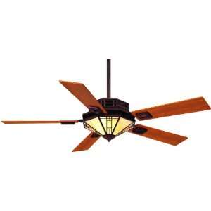 56 5 Blade Ceiling Fan   Light, Wall Control and