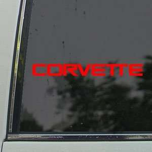 CHEVROLET CORVETTE WINDSHIELD Red Decal Window Red Sticker