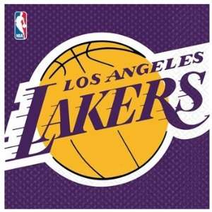 Los Angeles Lakers Paper Lunch Napkins (16 Count) Toys