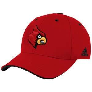 adidas Louisville Cardinals Cardinal Team Colors Flex Fit