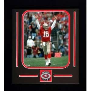 Joe Montana San Francisco 49ers NFL Framed Photograph Arms Raised with