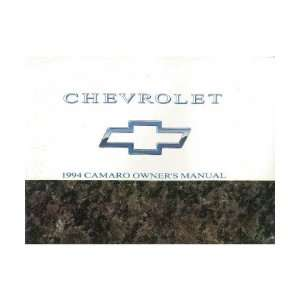 1994 CHEVROLET CAMARO Owners Manual User Guide Automotive