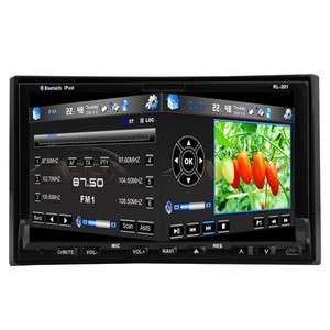 USA 7 In Dash HD 2 Din Car Stereo DVD Player GPS Radio Ipod BT TV