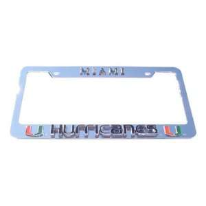 Miami Hurricanes License Plate Tag Frame Sports