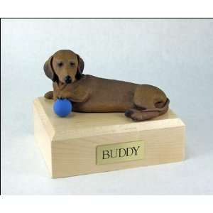 1566 Dachshund, Red Dog Cremation Urn