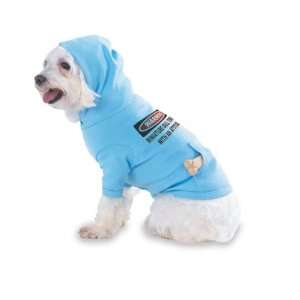 Warning Miniature Bull Terrier with an attitude Hooded