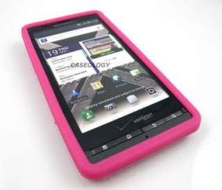 PINK SOFT SKIN CASE COVER MOTOROLA DROID X X2 MILESTONE