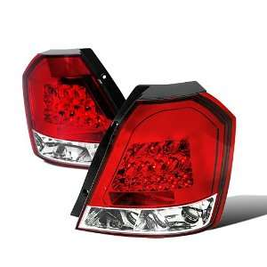 Chevy Aveo Ls Lt Hatchback Red/Clear Led Tail Lights