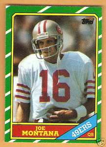 1986 Topps #156 JOE MONTANA San Francisco 49ers