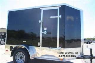 NEW 5x8 5 x 8 V Nose Enclosed Cargo Motorcycle Trailer Ramp & Side