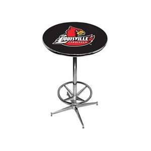 University of Louisville Pub Table   Black   Chrome Base