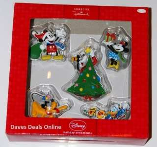 New Hallmark Disney characters Ornaments Mickey, Minnie, Donald, Pluto