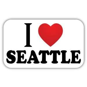 I Love SEATTLE Car Bumper Sticker Decal 5 X 3