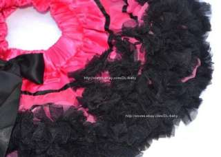 pink black Children baby toddler Girls skirt Princess Pettiskirt Tutu