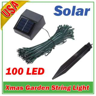 100 LED Solar String Light Garden Christmas Fairy WHITE
