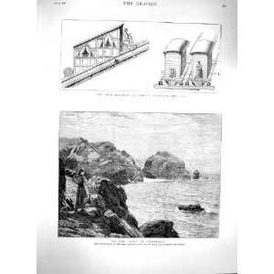 1880 Cornwall Rocks Sea Railway Mount Vesuvius Train
