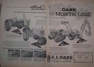 1957 Case Tractor AD 310 crawler 310 loader backhoe