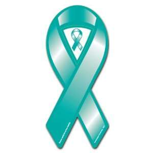 Teal Cause Awareness Ribbon Magnet