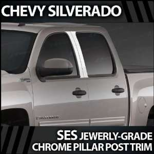 2007 2012 Chevy Silverado 4pc. SES Chrome Pillar Trim