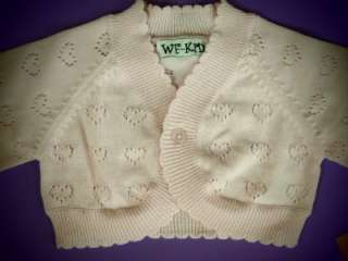 NWT BABY GIRL POINTELLE SWEATER CK291013 (0 24months)