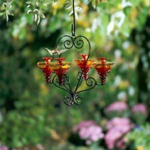 Victoria Flame Red Chandalier Hummingbird Feeder Kitchen