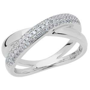 0.29 Carat 18kt White Gold Diamond Ring Jewelry
