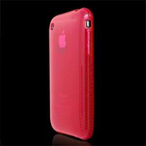 RED CIRCLE PATTERN SOFT TPU RUBBER SKIN COVER PHONE SHIELD