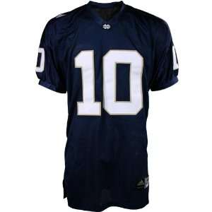 Adidas Notre Dame Fighting Irish #10 Navy Authentic Football