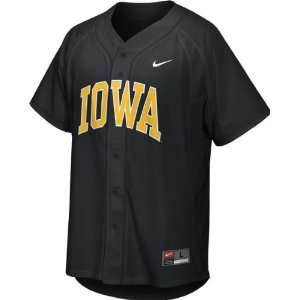 Iowa Hawkeyes Youth Black Nike Replica Baseball Jersey