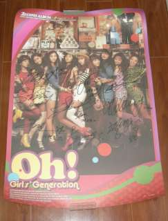 SNSD Girls Generation   Vol 2. OH Autographed POSTER