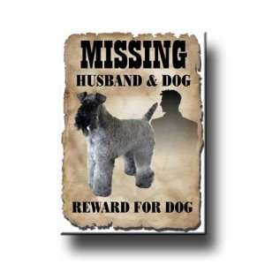 Kerry Blue Terrier Husband Missing Reward Fridge Magnet