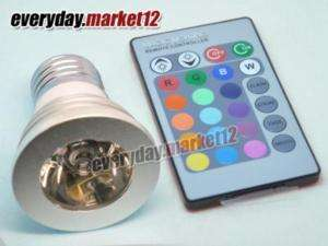 E27 3W Remote Control 16 Color RGB LED Bulb Light Lamp