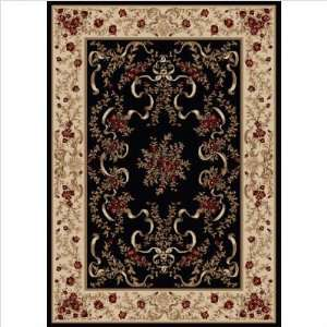 Radici Sofia 1428 79 x 96 Black Area Rug Furniture