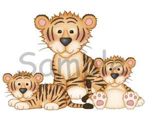 JUNGLE ZOO SAFARI ANIMALS ZEBRA GIRAFFE TIGER WALL ART