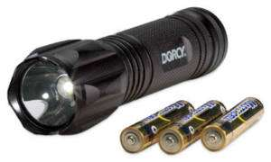 Dorcy 80 Lumen, LED Aluminum Flashlight, Uses 3 AAA