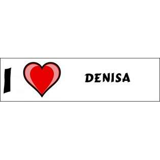 Love Denisa Bumper Sticker (3x12)  SHOPZEUS Computers & Electronics