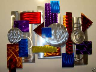 Large Modern Abstract Aluminum Metal Wall Art Decor Sculpture 3 Piece