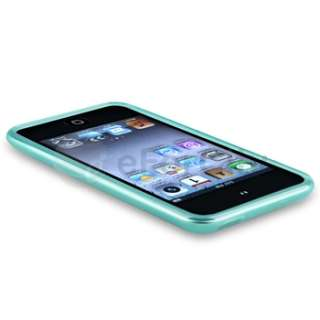 Blue Skin TPU Rubber Silicone Case Cover for Apple iPod Touch iTouch