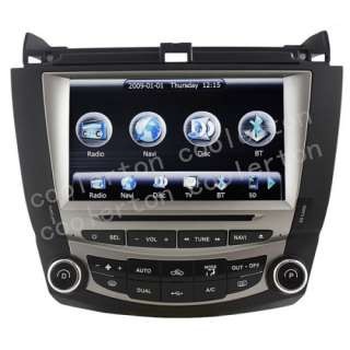 HD Touchscreen DVD GPS Navigation System For 7th 2003 07 Honda Accord