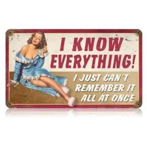 Remember Humor Vintage Metal Sign   Garage Art Signs