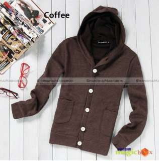 Men New Fashion Casual Thick Hoodie Hooded Jacket #002